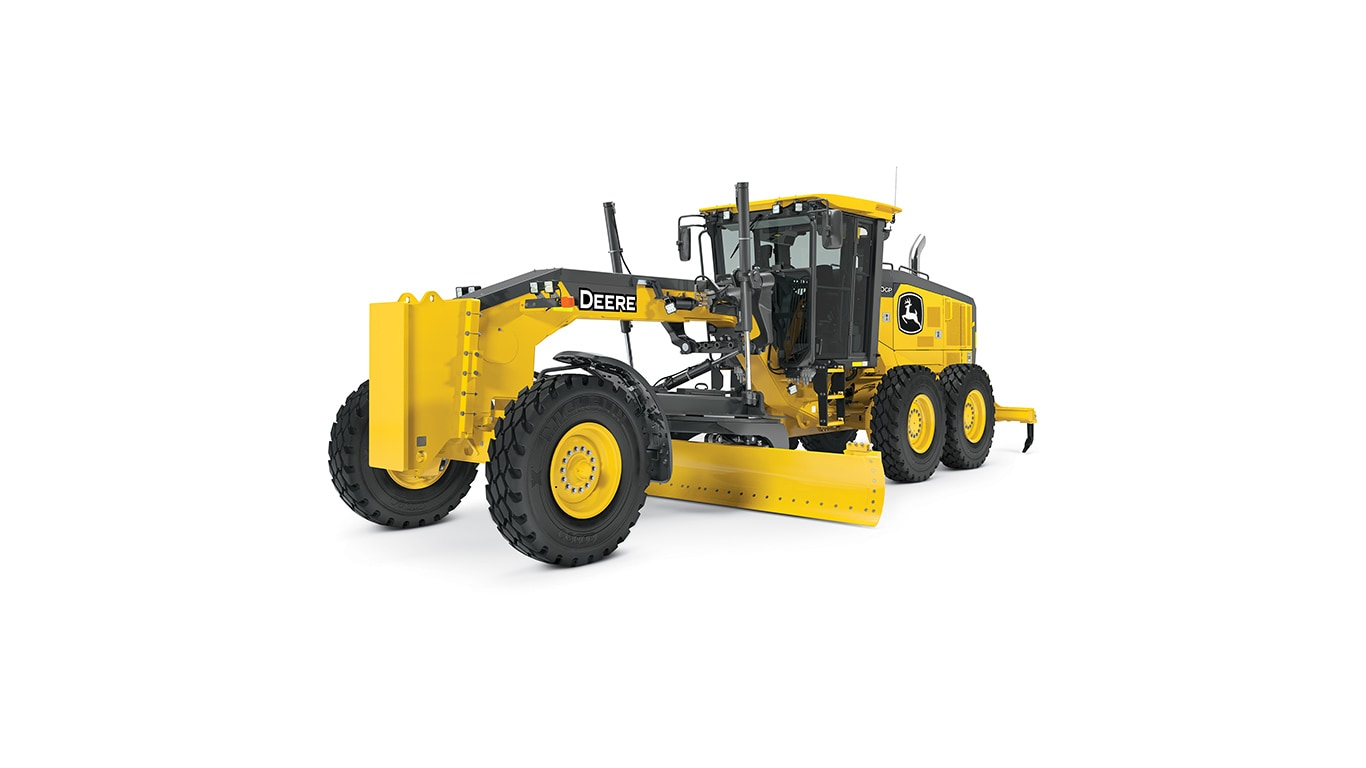 670GP motor grader on white background