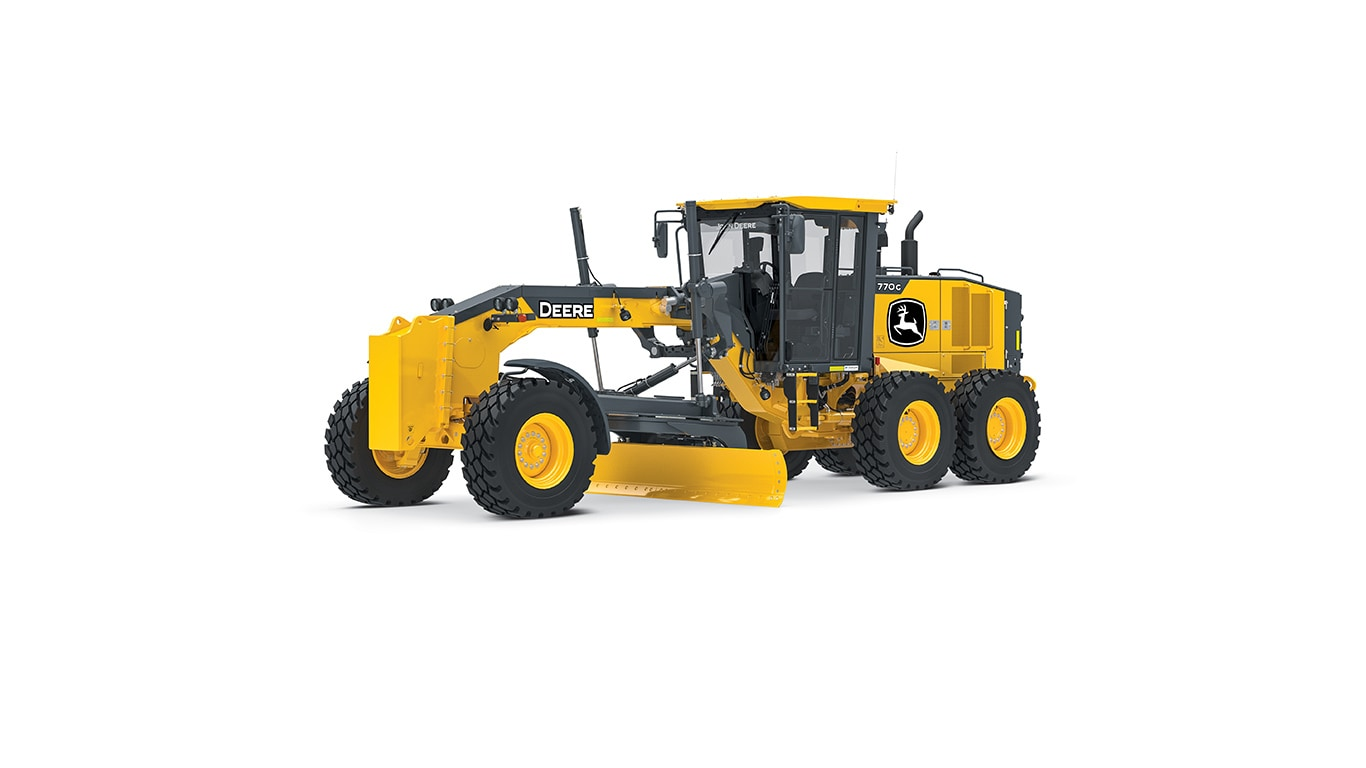 770G motor grader on white background