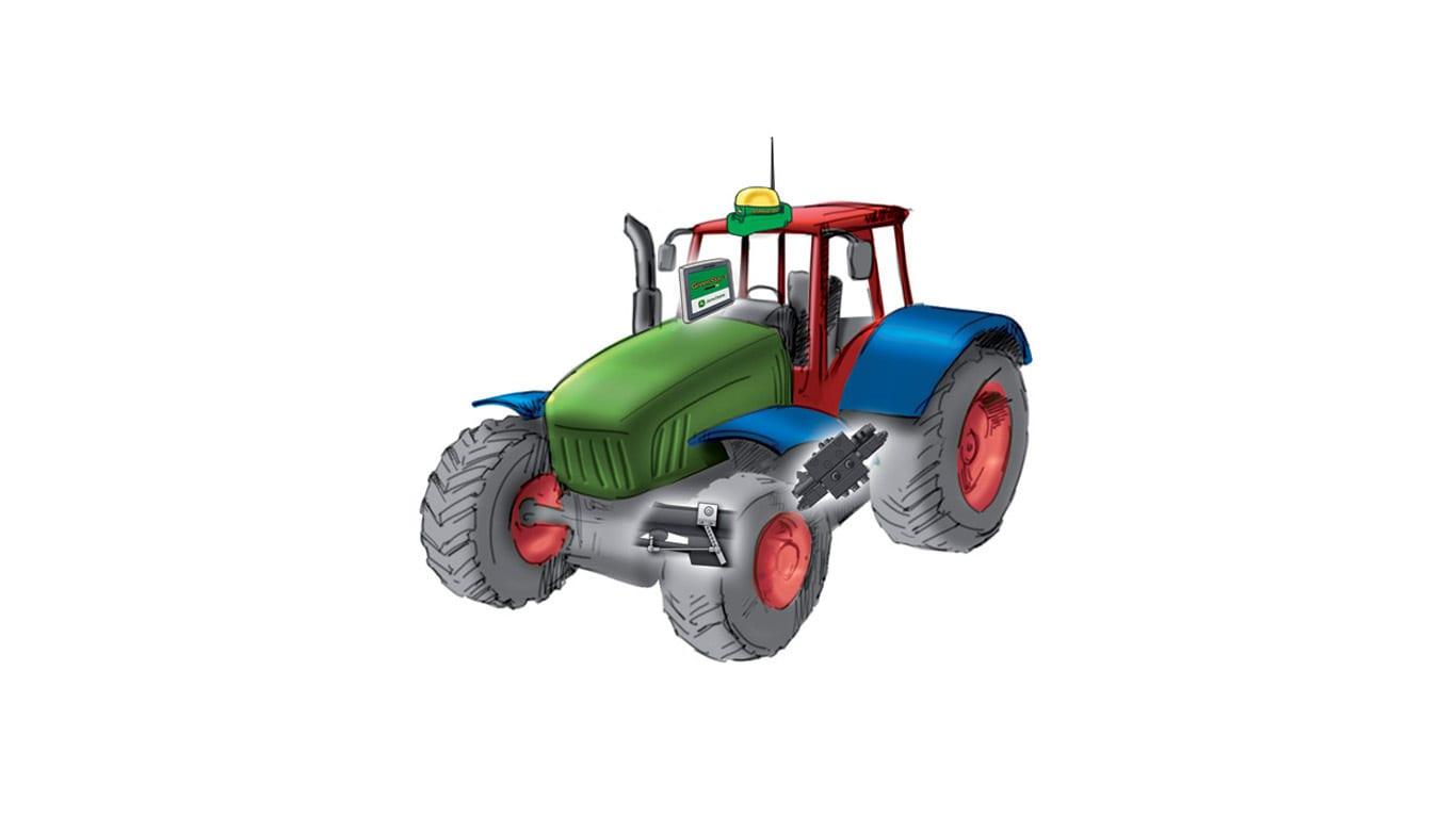 Tractor con AutoTrac™ Controller™.