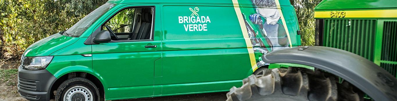 Brigada verde, su taller móvil