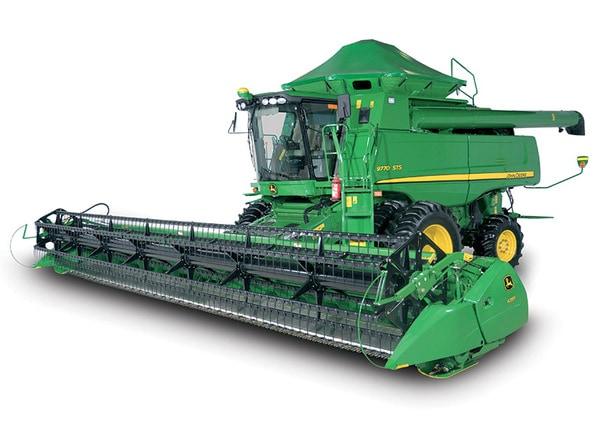 Imagen de estudio plataforma de la serie 600FD en la cosechadora de John Deere.