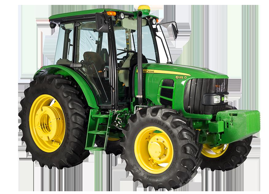 Imagen de estudio del Tractor 6125D.